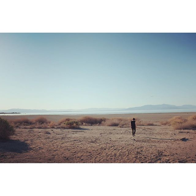 "She has always wanted to visit after watching the ""Plagues & Pleasures on the Salton Sea"" doc #saltonsea #california #x100t"