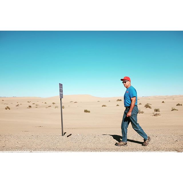 Desert walker #california #saltonsea #glamis #x100t #latergram