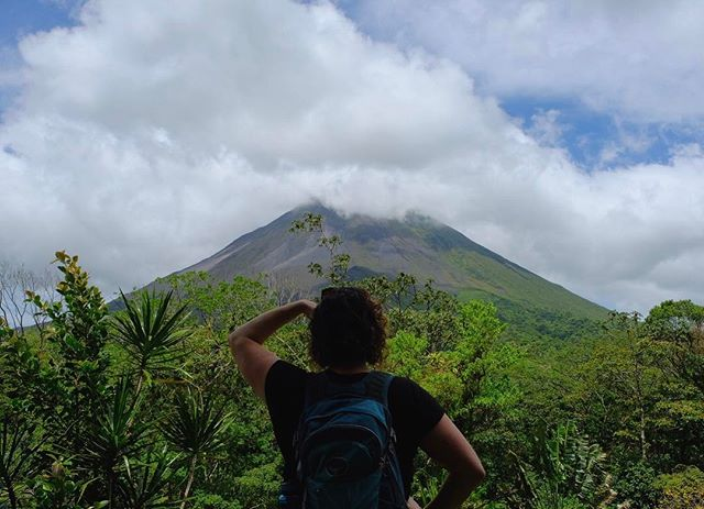 Looking out at the volcano #costarica #arenal #osprey #vacationspam