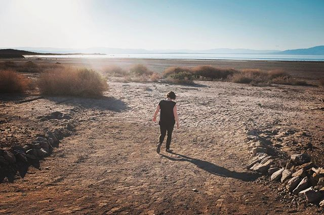 Walking through the Salton Sea #oldpic #2016