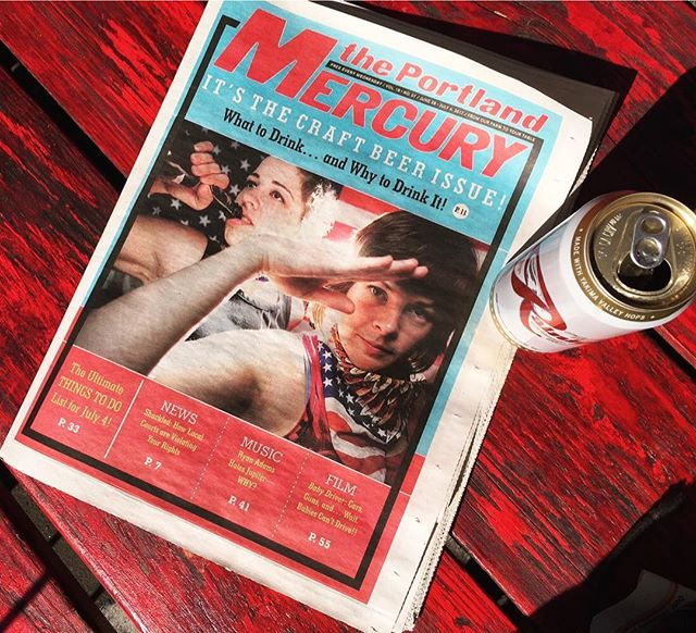 My pic from a goofy night years ago has landed on the Portland Mercury's 4th of July craft beer issue! These ladies are making America proud :)