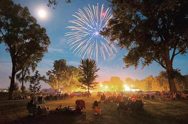 Just returned from a whirlwind trip around Michigan. This was from #fourthofjuly in the small town with a pop. of 2,300 where my wife's grandparents live. #midwestmoment