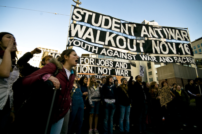 student anti-war rally in seattle