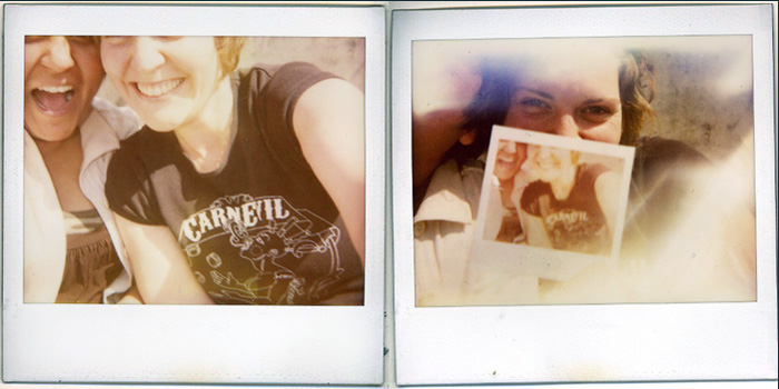 parking lot polaroids