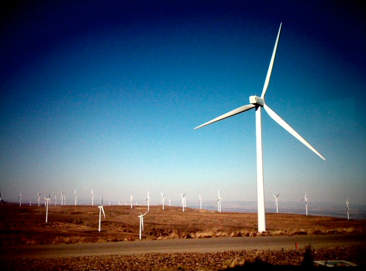 windfarm in ellensburg, washington with iphone