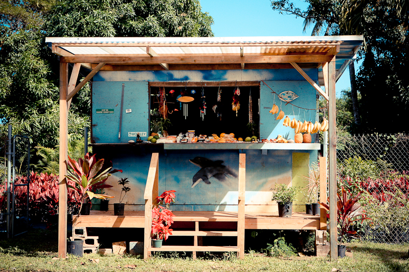 fruit stand on oahu